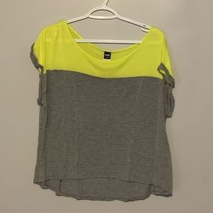2 for $15!! Colour Block Cropped Tshirt